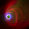 Computer simulation of M87; credit: University of Arizona