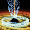 Sketch of the magnetic field lines around a black hole; credit: M. Weiss, SAO