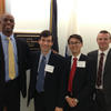 Jason Comander and Leo Kim discuss vision research with members of Congress