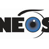 "Logo for the New England Ophthalmological Society, the ""O"" is a picture of an eye"