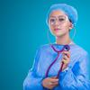 Image of a doctor in scrubs