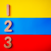 Image of 123 in different colors