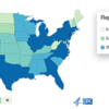 COVID - 19 cases reported by U.S. States