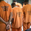 Prisoners at prayer at Gadsden County Jail, Quincy, Fla