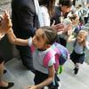 First day of school for Boston first-graders. Photo by Pat Greenhouse, Boston Globe.