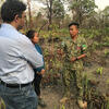 Tambe and Xu speak with with Ly Bora, Deputy Director of Srepok Wildlife Sanctuary in Cambodia.
