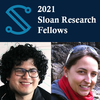 Sloan fellowships announcement, photos of Profs. Argüelles Delgado and Guenette