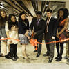 Students and Professor Walton cut ribbon on Student Oasis