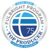 Badge for Fulbright U.S. Student Program Top Producing Institution in 2020-2021.