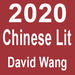 "Red block with white text reading ""2020, Chinese Literature, David Wang"""