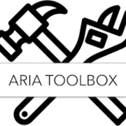 Aria tool box logo of a hammer and wrench