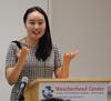 Yeonju Lee presenting at Weatherhead Forum, 2018