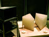 Total internal reflection of microwaves inside a wax prism.