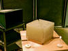 Microwaves tunnel through wax prism.